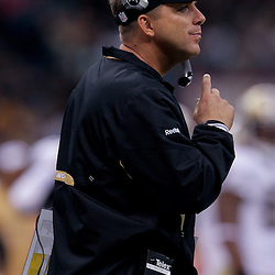 2009 September 13: New Orleans Saints head coacg Sean Payton on the sideline during a 45-27 win by the New Orleans Saints over the Detroit Lions at the Louisiana Superdome in New Orleans, Louisiana.