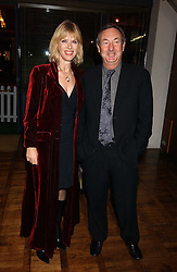 Musician NICK MASON and his wife NETTE at a party to celebrate the publication of 'E is for Eating' by Tom Parker Bowles held at Kensington Place, 201 Kensington Church Street, London W8 on 3rd November 2004.<br />