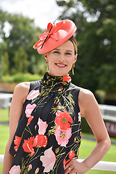 29 July 2021 - The QATAR Goodwood Festival Ladies Day at Goodwood Racecourse, West Sussex.<br /> Picture Shows - Fracesca Cumani<br /> <br /> <br /> NON EXCLUSIVE - WORLD RIGHTS