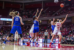 NORMAL, IL - December 20: Tasia Jefferies attempts to block out Lexi Wallen but the ball bounces the way of Wallen during a college women's basketball game between the ISU Redbirds and the St. Louis Billikens on December 20 2018 at Redbird Arena in Normal, IL. (Photo by Alan Look)