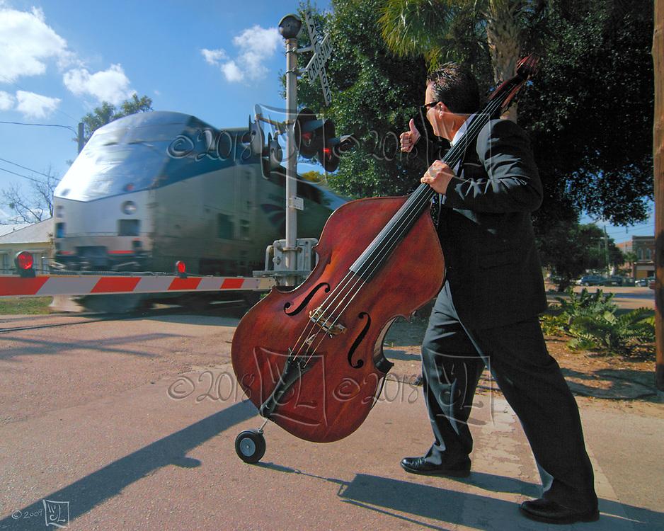 Bass player Tom Hamilton.  PR photos.  Ybor City