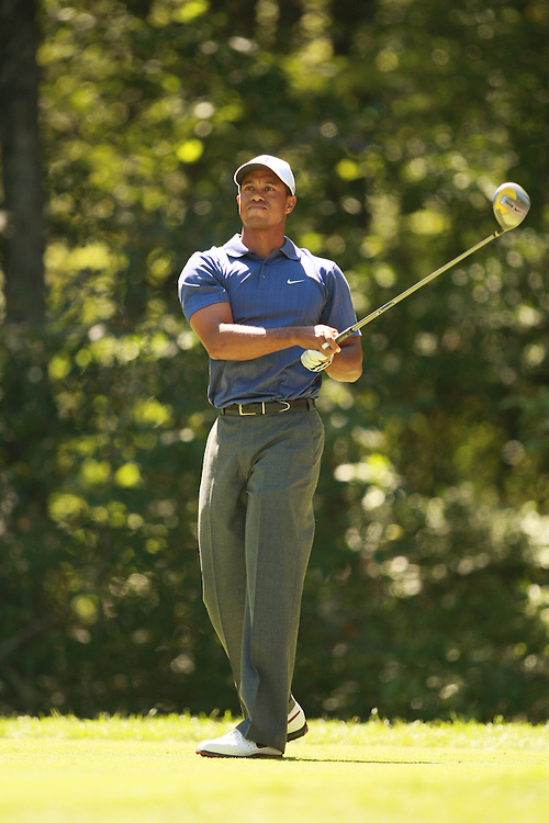 Tiger Woods during the third round of the 2007 Deutsche Bank Championship in Norton, Massachusetts at TPC of Boston on Sunday, September 2, 2007. Photograph by Darren Carroll..