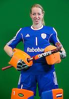 DEN BOSCH -  JOYCE SOMBROEK .  . Nederlands Hockeyteam  voor nieuwe platform Hockey.nl.    FOTO KOEN SUYK
