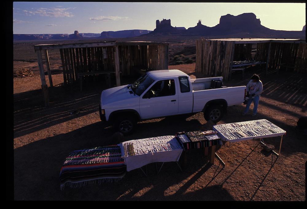 Monument Valley vendor Pauline Gray.  1993