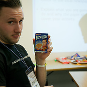 Workshop on how best to catch the attention of the media, here an editor is approached. The Power of IF was a free event organised by ActionAid and other organisations for the Enough Food for Everyone IF campaign. The event in London invied 16-25yr olds to come together to find out more about the campaign. The event was a mix of inspirational speakers and interactive workshops and was hosted by the British hip hop artist TY.