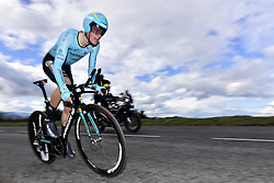 March 7, 2018 - Saint Etienne, France - SAINT-ETIENNE, FRANCE - MARCH 7 : FUGLSANG Jakob  (DEN)  of Astana Pro Team in action during stage 4 of the 2018 Paris - Nice cycling race, an individual time trial over 18,4 km from La Fouillouse to Saint-Etienne on March 07, 2018 in Saint-Etienne, France, 7/03/2018 (Credit Image: © Panoramic via ZUMA Press)