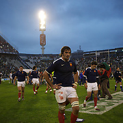 French players leave the pitch after their loss during the Argentina V France test match at Estadio Jose Amalfitani, Buenos Aires,  Argentina. 26th June 2010. Photo Tim Clayton..