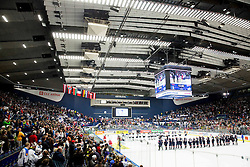 Teams after the Ice Hockey match between USA and Finland at Day 1 in Group B of 2015 IIHF World Championship, on May 1, 2015 in CEZ Arena, Ostrava, Czech Republic. Photo by Vid Ponikvar / Sportida