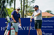 Shane Lowry (IRL) and his caddy Brian Martin during the preview to the Players Championship, TPC Sawgrass, Ponte Vedra Beach, Florida, USA. 11/03/2020<br /> Picture: Golffile | Fran Caffrey<br /> <br /> <br /> All photo usage must carry mandatory copyright credit (© Golffile | Fran Caffrey)