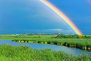 Rainbow after storm <br /> St. Gedeon<br /> Quebec<br /> Canada