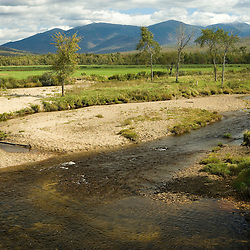 The South Branch of the Israel River as it runs through the E and R Dairy Farm in Jefferson, New Hampshire.