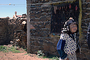 Morocco, Old woman in a village