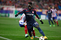 Olympiacos´s Masuaku during Champions League soccer match between Atletico de Madrid and Olympiacos at Vicente Calderon stadium in Madrid, Spain. November 26, 2014. (ALTERPHOTOS/Victor Blanco)