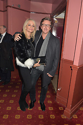 PAUL & LISA KEATING at the opening night of Cinderella at The New Wimbledon Theatre, 93 The Broadway, London SW19 1QG on 9th December 2014.