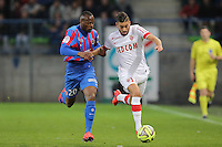 Yannick FERREIRA CARRASCO / Herve BAZILE  - 10.04.2015 - Caen / Monaco - 32e journee Ligue 1<br />