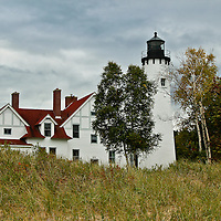 """""""Point Iroquois Storm""""<br /> <br /> The lovely Point Iroquois Light Station! A scenic lighthouse located on the shores of Lake Superior in Michigan's Upper Peninsula!!<br /> <br /> Lighthouses of the Great Lakes by Rachel Cohen"""