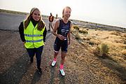 Aniek Rooderkerken op de vijfde racedag. Het Human Power Team Delft en Amsterdam, dat bestaat uit studenten van de TU Delft en de VU Amsterdam, is in Amerika om tijdens de World Human Powered Speed Challenge in Nevada een poging te doen het wereldrecord snelfietsen voor vrouwen te verbreken met de VeloX 7, een gestroomlijnde ligfiets. Het record is met 121,81 km/h sinds 2010 in handen van de Francaise Barbara Buatois. De Canadees Todd Reichert is de snelste man met 144,17 km/h sinds 2016.<br /> <br /> With the VeloX 7, a special recumbent bike, the Human Power Team Delft and Amsterdam, consisting of students of the TU Delft and the VU Amsterdam, wants to set a new woman's world record cycling in September at the World Human Powered Speed Challenge in Nevada. The current speed record is 121,81 km/h, set in 2010 by Barbara Buatois. The fastest man is Todd Reichert with 144,17 km/h.
