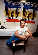 Andy Summers  backstage  The Police tour 1980