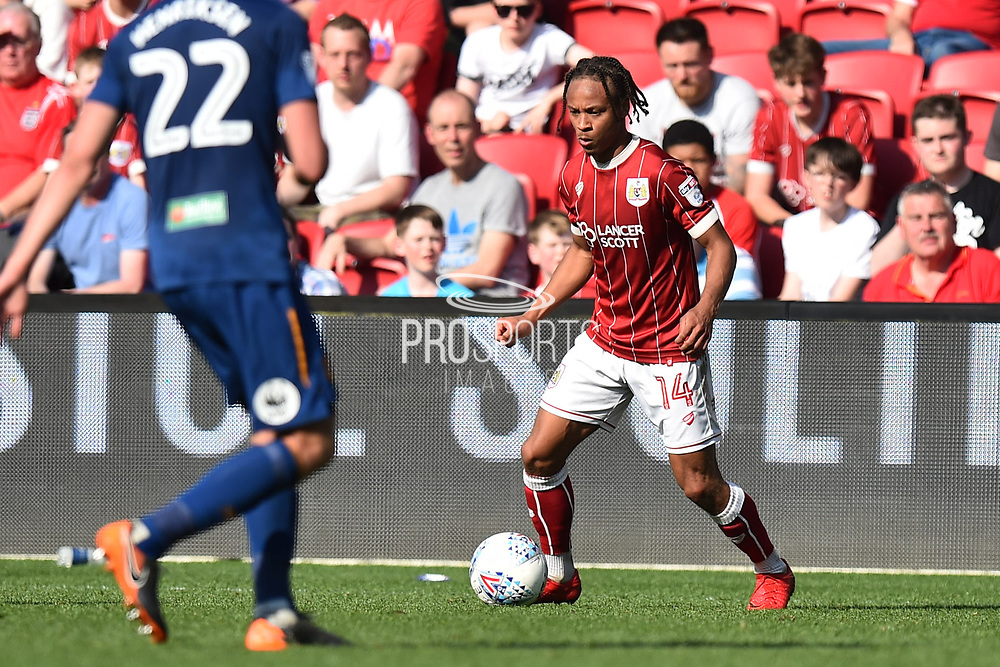 Bobby Reid (14) of Bristol City during the EFL Sky Bet Championship match between Bristol City and Hull City at Ashton Gate, Bristol, England on 21 April 2018. Picture by Graham Hunt.