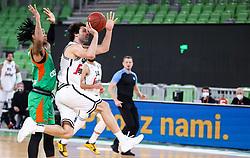 Milos Teodosic of Virtus during basketball match between KK Cedevita Olimpija (SLO) and Virtus Segafredo Bologna (ITA) in Top 16 Round 5 of 7DAYS Eurocup 2020/21, on March 2, 2021 in Arena Stozice, Ljubljana, Slovenia. Photo by Vid Ponikvar / Sportida