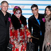 NLD/Rotterdam/20130209 - De Franse modeontwerper Jean Paul Gaultier opent zijn tentoonstelling in de Kunsthal Rotterdam, Petra Heijboer en vrienden