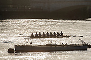 Putney, Greater London, UK., Sunday, 20th September 2020,  Crews from the Putney Rowing Clubs,  Early morning, setting up and boating from the Hard,  [Covid-19 restrictions, Lock Down], Men's Eight, M8+,<br /> [Mandatory Credit: Peter Spurrier], River Thames, Thames Valley,