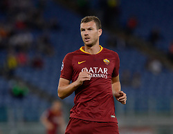 October 2, 2018 - Rome, Italy - Edin Dzeko during the UEFA Champions League match group G between AS Roma and Viktoria Plzen at the Olympic stadium on october 02, 2018 in Rome, Italy. (Credit Image: © Silvia Lore/NurPhoto/ZUMA Press)