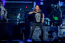INGLEWOOD, CA - SEPTEMBER 24: Frontman Fher Olvera of Mana performs on stage during a stop of the band's Latino Power Tour at the Forum on September 24, 2016 in Inglewood,California USA. Byline, credit, TV usage, web usage or linkback must read SILVEXPHOTO.COM. Failure to byline correctly will incur double the agreed fee. Tel: +1 714 504 6870.