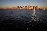 A skyline view of Manhattan.