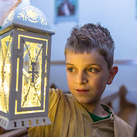 James Laverick from Barefield playing the part of the Inn Keeper during the Nativity play in Barefield Church