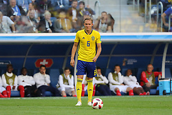 July 3, 2018 - Russia - July 03, 2018, St. Petersburg, FIFA World Cup 2018 Football, the playoff round. Football match of Sweden - Switzerland at the stadium of St. Petersburg. Player of the national team Ludwig Augustsstinson. (Credit Image: © Russian Look via ZUMA Wire)