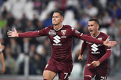 May 3, 2019 - Torino, Torino, Italia - Foto LaPresse - Fabio Ferrari.03 Maggio 2019 Torino, Italia .Sport.Calcio.ESCLUSIVA TORINO FC.Juventus Fc vs Torino Fc - Campionato di calcio Serie A TIM 2018/2019 - Allianz Stadium..Nella foto:Lukic esulta dopo rete 0-1..Photo LaPresse - Fabio Ferrari.May 03, 2019 Turin, Italy.sport.soccer.EXCLUSIVE TORINO FC.Juventus Fc vs Torino Fc - Italian Football Championship League A TIM 2018/2019 - Allianz Stadium..In the pic:Lukic celebrates after gol 0-1 (Credit Image: © Fabio Ferrari/Lapresse via ZUMA Press)