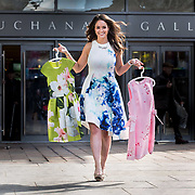 FREE PICTURES :  Top TV personality Jennifer Reoch took to Buchanan Galleries today to launch #FrockDrop - the centre's spring campaign in aid of Marie Curie.<br /> <br /> The #FrockDrop campaign is this year supported by a number of high profile personalities including The First Minister Nicola Sturgeon, Rebekah Vardy and Helen Flanagan.<br /> <br />  Picture Robert Perry 29th March 2018<br /> <br /> Please credit photo to Robert Perry<br /> <br /> Image is free to use in connection with the promotion of the above company or organisation. 'Permissions for ALL other uses need to be sought and payment make be required.<br /> <br /> <br /> Note to Editors:  This image is free to be used editorially in the promotion of the above company or organisation.  Without prejudice ALL other licences without prior consent will be deemed a breach of copyright under the 1988. Copyright Design and Patents Act  and will be subject to payment or legal action, where appropriate.<br /> www.robertperry.co.uk<br /> NB -This image is not to be distributed without the prior consent of the copyright holder.<br /> in using this image you agree to abide by terms and conditions as stated in this caption.<br /> All monies payable to Robert Perry<br /> <br /> (PLEASE DO NOT REMOVE THIS CAPTION)<br /> This image is intended for Editorial use (e.g. news). Any commercial or promotional use requires additional clearance. <br /> Copyright 2016 All rights protected.<br /> first use only<br /> contact details<br /> Robert Perry     <br /> 07702 631 477<br /> robertperryphotos@gmail.com<br />        <br /> Robert Perry reserves the right to pursue unauthorised use of this image . If you violate my intellectual property you may be liable for  damages, loss of income, and profits you derive from the use of this image.
