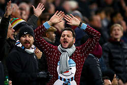 West Ham United fans in the stands during the Premier League match at London Stadium.
