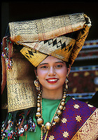 Young woman in traditional dress in Jakarta, Indonesia. Photograph by Jayne Fincher