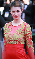 Sarah Barzyk at the the Mr. Turner gala screening red carpet at the 67th Cannes Film Festival France. Thursday 15th May 2014 in Cannes Film Festival, France.