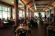 Inside Floien Folkerestaurant restaurant cafe, Mount Floyen, Bergen, Norway built in 1925