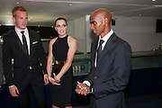 Greg Rutherford, Victoria Pendlton, Mo Farah;  2012 GQ Men of the Year Awards,  Royal Opera House. Covent Garden, London.  3 September 2012