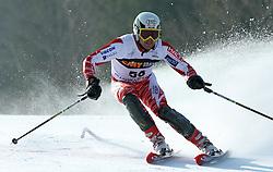 Brad Spence at first run of 9th men's slalom race of Audi FIS Ski World Cup, Pokal Vitranc,  in Podkoren, Kranjska Gora, Slovenia, on March 1, 2009. (Photo by Vid Ponikvar / Sportida)