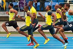 adidas Grand Prix Diamond League professional track & field meet: mens 100 meter, Tyson Gay, USA