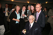 JOHN MORTIMER AND FAMILY , Book launch for 'the Anti-social Behaviour of Horace Rumpole' by John Mortimer and 'A Voyage Round John Mortimer' by Valerie Grove. -DO NOT ARCHIVE-© Copyright Photograph by Dafydd Jones. 248 Clapham Rd. London SW9 0PZ. Tel 0207 820 0771. www.dafjones.com.