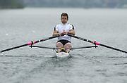 Hazewinkel. BELGUIM  GBR M1X. Ian LAWSON. 2004 GBR Rowing Trials - Rowing Course, Bloso, Hazewinkel. BELGUIM. [Mandatory Credit Peter Spurrier/ Intersport Images]