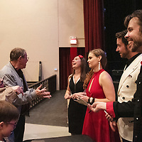 Mary and Gary Bickner, left, talk with members of 7th Ave. band following their performance Friday, March 29 at El Morro Theatre.
