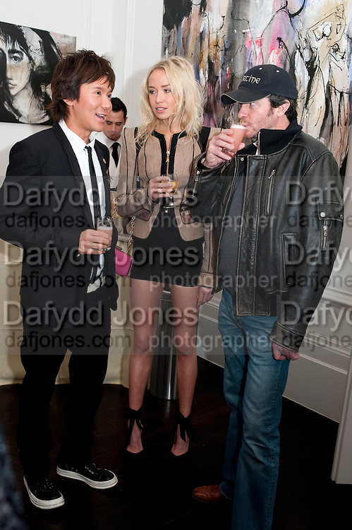 Andy Wong; Noelle Reno; Scott Young, Gino Hollander exhibition, Also a chance to see  the flat at 105-106 Lancaster Gate which is for sale. London. 4 February 2010.