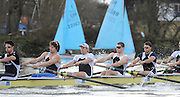 Putney, GREAT BRITAIN,  Molesey BC.  left to right Tom JAMES, Tom RANSLEY, Andy TRIGG HODGE, Cameron NICOL and Tom SOLEBURY, 2010  Varsity/ Boat Race, Cambridge University vs Molesey BC, raced over the championship course. Putney to Mortlake, Sunday  21/03/2010. [Mandatory Credit, Peter Spurrier/Intersport-images]