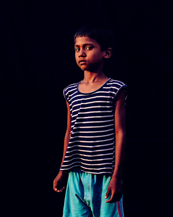 Colour Portrait of an asian child