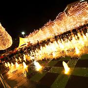 At the 2013 Mayor's Christmas Tree Lighting at Crown Center in Kansas City, Missouri.