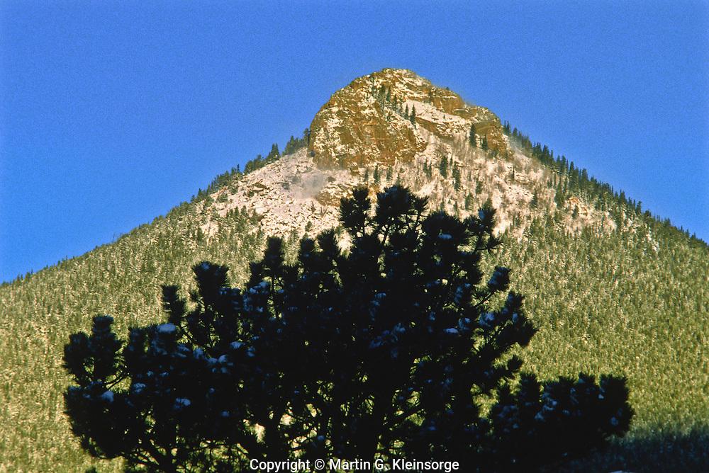 11,006 ft. Estes Cone at Rocky Mountain National Park, Colorado.