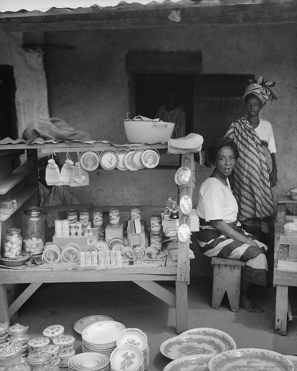 Street Scene, Ibadan, Nigeria, Africa, 1937