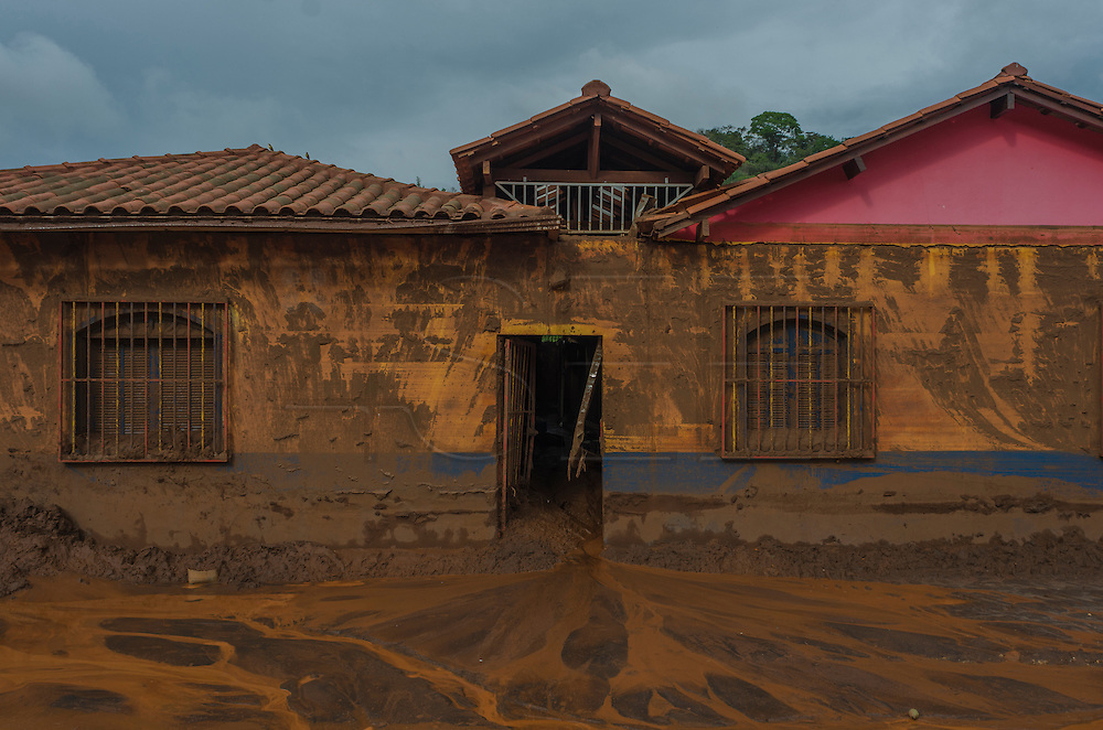 A market affected by a flood of mud in Paracatu de Baixo, one of the districts of Mariana, a brazilian city in the state of Minas Gerais. On november 5th, a mining waste dam failed causing a flood of mud.